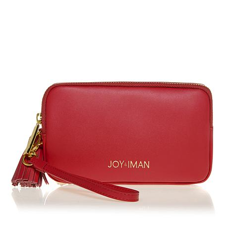 JOY & IMAN Tassel Chic Leather Wallet with RFID