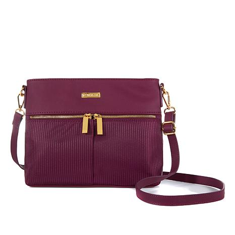 JOY Lightweight Nylon TuffTech™ Luxury Pinstripe Crossbody with RFID