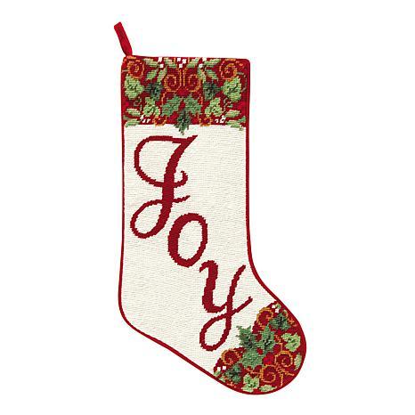 Joy Needlepoint  Stocking