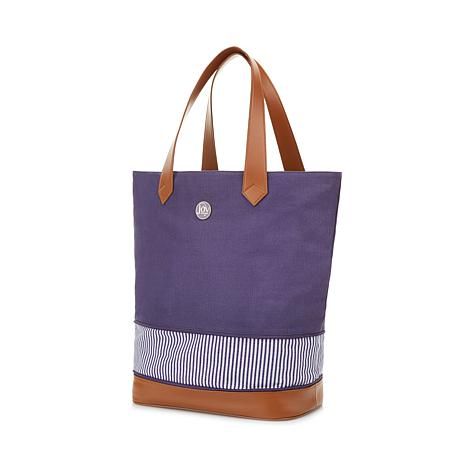 021bff0f23 JOY Resort Chic Large Expandable Canvas Tote with RFID Security - 8630744