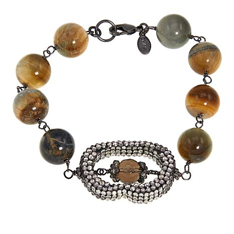Joyce Williams Tiger's Eye Beaded Bracelet