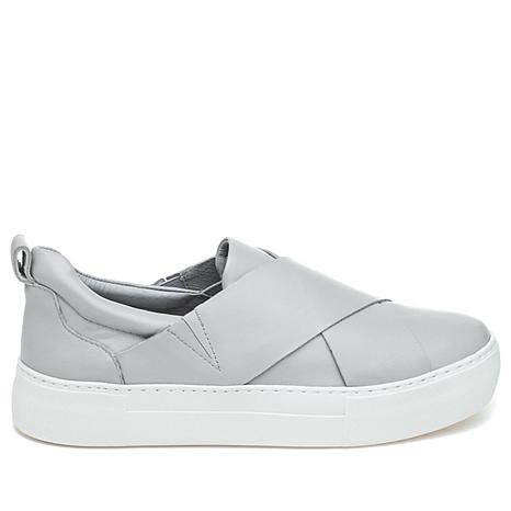 J/Slides NYC Alec Leather Xband Slip-On Sneaker