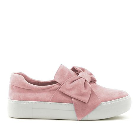 J/Slides NYC Beauty Suede Bow Slip-On Sneaker