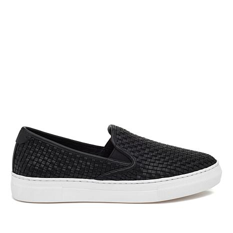 J/Slides NYC Flynn Woven Leather or Suede Slip-On Sneaker