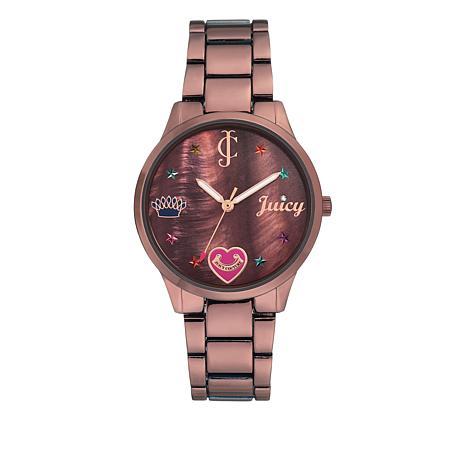 Juicy Couture Metallic Brown Women's Brown Dial Bracelet Watch