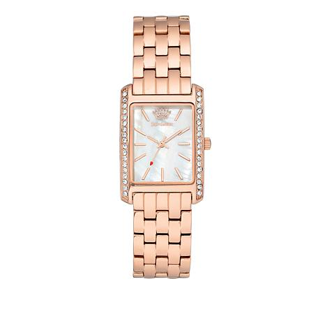 Juicy Couture Mother-of-Pearl Dial Rosetone Bracelet Watch