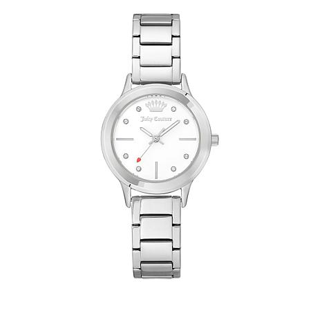 Juicy Couture Silvertone Stainless Steel Strap Watch