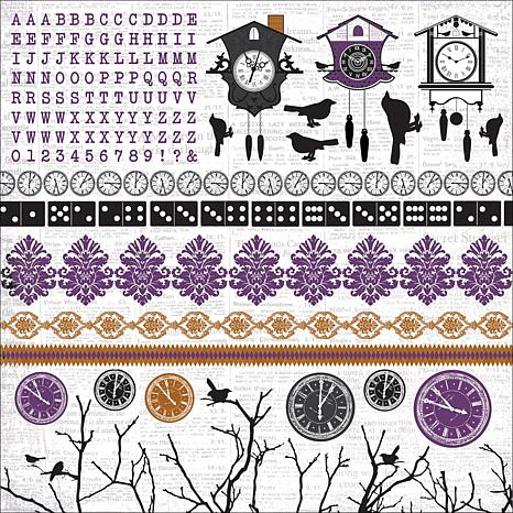 Kaisercraft 13th Hour Cardstock Stickers 12 x 12 Sheets