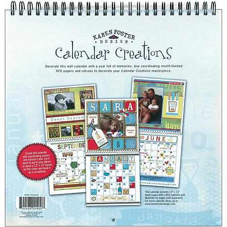 Karen Foster Calendar Creations Wall Calendar - Blank