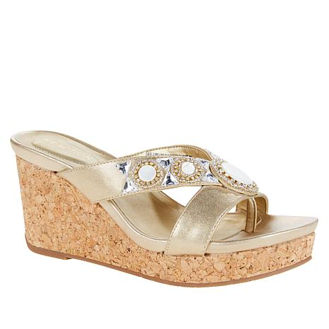 Kenneth Cole Reaction Card Glam Espadrille Beaded Sandal