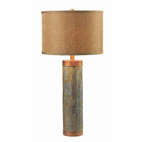 Kenroy Home Mattias Table Lamp With Copper Finish Accents