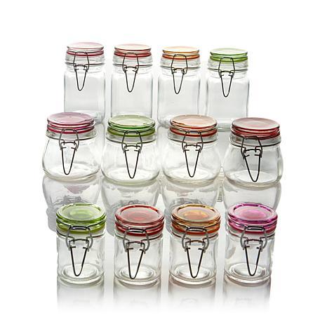 Kinetic Glassworks 12-piece Mini-Jar Set - Large