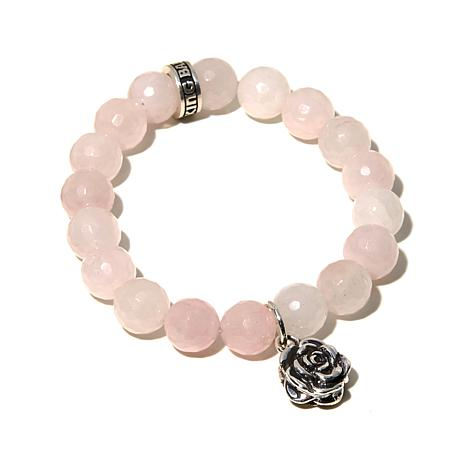 King Baby Jewelry Rose Charm Gemstone Bracelet