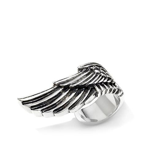 "King Baby Jewelry Sterling Silver ""Wing"" Ring"