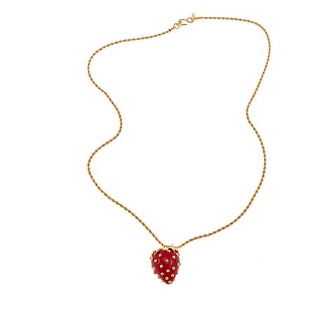 Kenneth Jay Lane Ruby Stationed Necklace Ruby CoRTdept