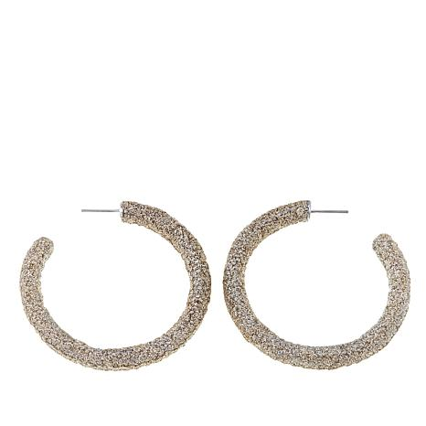 KMO Paris Textured C-Hoop Earrings