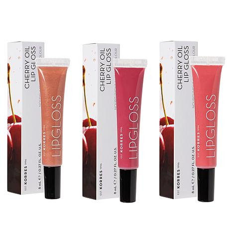 Korres 3-pack Cherry Oil Lip Gloss