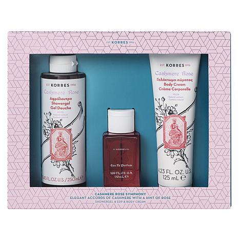 Korres Cashmere Rose Fragrance 3-piece Gift Collection
