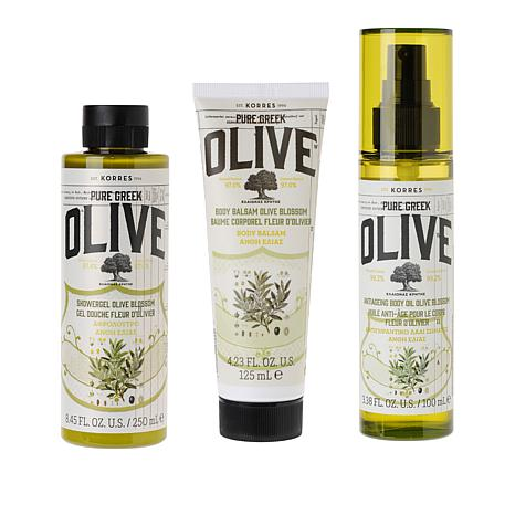 Korres Greek Olive Oil & Blossom Anti-Aging Body Trio