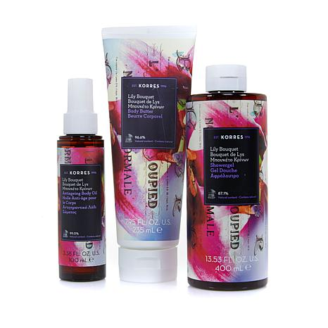 Korres Lily Bouquet 3-piece Anti-Aging Body Collection