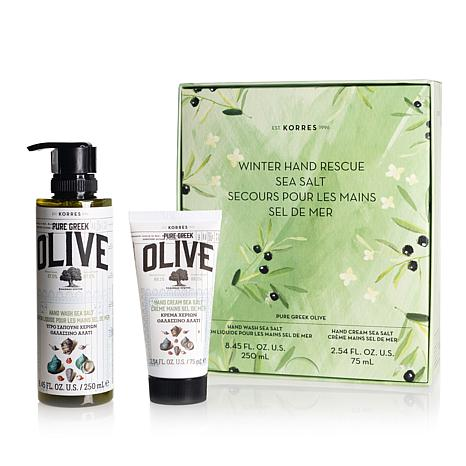 Korres Olive & Sea Salt Winter Hand Rescue 2-piece Set
