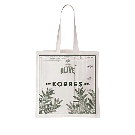 Korres Organic Canvas Olive Tote Bag