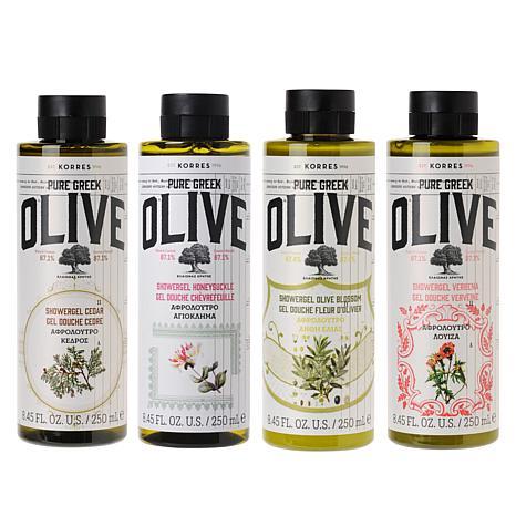 Korres Pure Greek Olive Oil 4-piece Shower Gel Collection