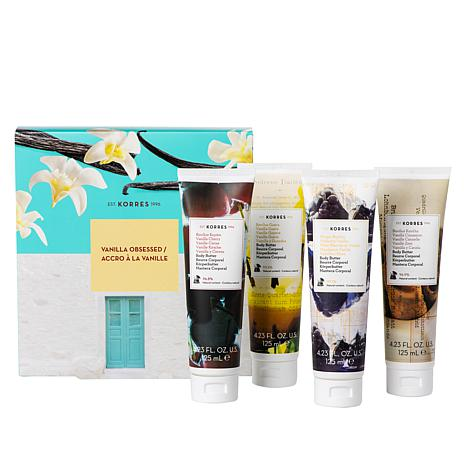 Korres Vanilla Obsessed Smoothing Body Butter 4-piece Set
