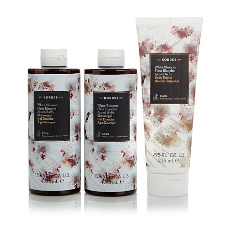Korres White Blossom 3-piece Bath & Body Collection