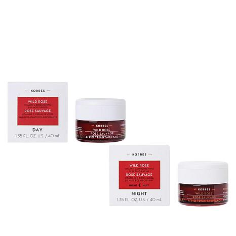 Korres Wild Rose Vitamin C Day and Night Duo for the Face