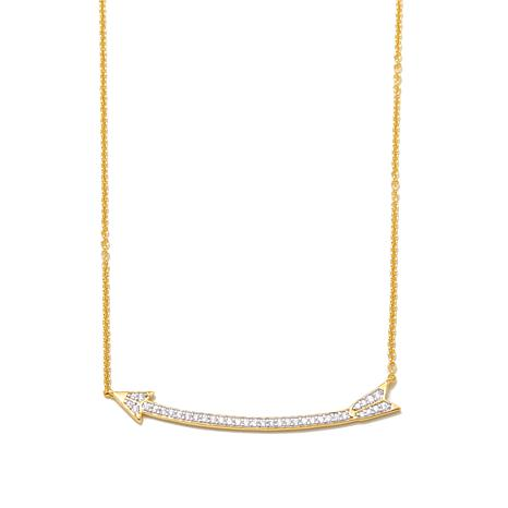 "Kristin Chenoweth ""Broken Arrow"" .51ctw CZ Necklace"