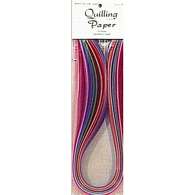 Lake City Craft Quilling Paper 3/8 100/Pkg - 25 Colors