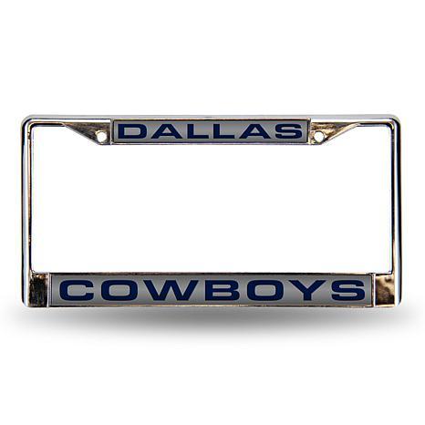 Silver Laser Chrome License Plate Frame Dallas Cowboys