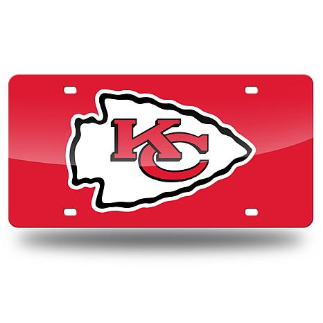 Laser-Engraved Red License Plate - Kansas City Chiefs