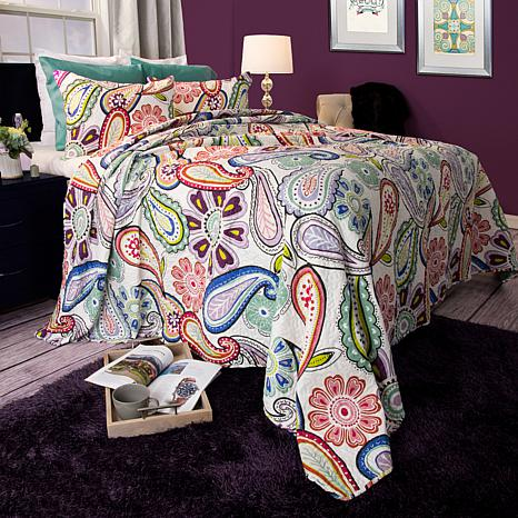 Lavish Home 2-piece Lizzie Quilt Set - Twin