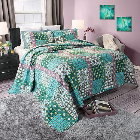 Lavish Home 2-piece Tala Cotton Quilt Set - Twin