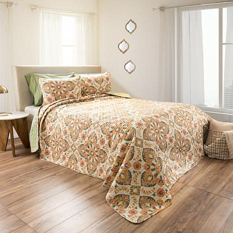 Lavish Home 2pc Maria Reversible  Quilt Set - Twin