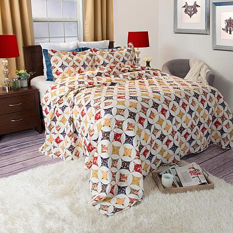 Lavish Home 3-piece Cassandra Quilt Set - Full/Queen