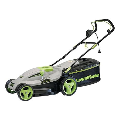 "LawnMaster 2-in-1 Corded Electric 15"" Walk Behind Push Mower"