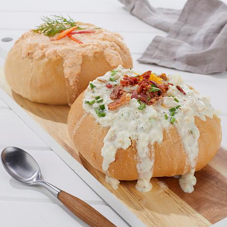 Legal Sea Foods Clam Chowder & Lobster Bisque with Bread Bowls