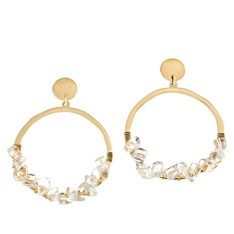 Lemon Way Gem Nugget Hoop Earrings