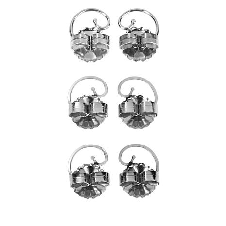 e9b39b5a0 Levears™ 1 Pair Silver and 2 Pair Stainless Steel Earring Lifts - 8513049 |  HSN