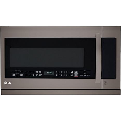LG 1000W 2.2cf Over-the-Range Microwave/Black Stainless