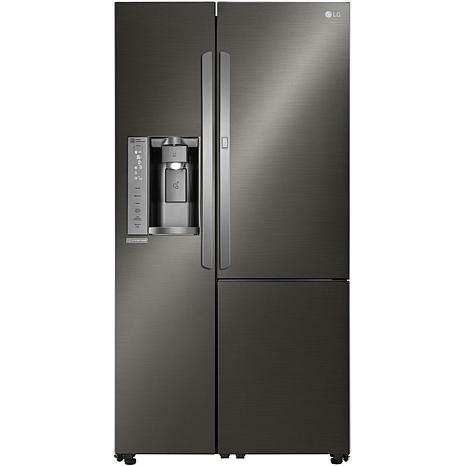 LG 26.1cf Ultra Large Refrigerator - Black Stainless