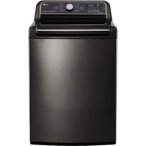 LG 5.2 Cu.Ft. Top Load Washer w/TurboWash Technology-Black Stainles...