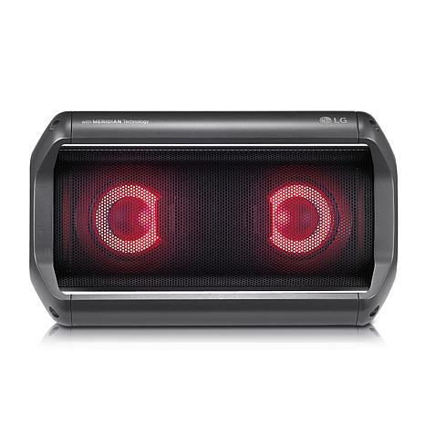 LG PK5 IPX5 Water-Resistant Portable Bluetooth Speaker w/LED Lighting
