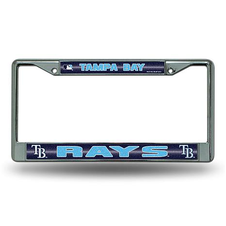 License Plate Frame with Bling - Tampa Bay Rays