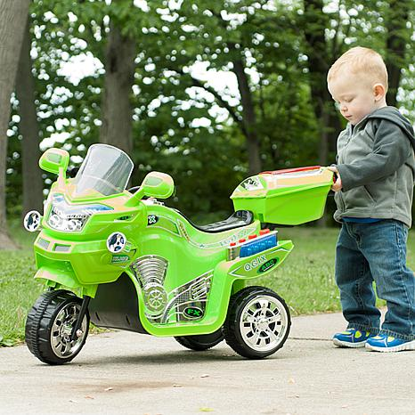 Lil' Rider 3-Wheel Battery-Powered FX Sport Bike - Green