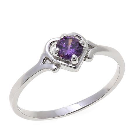 Lily Nily Girl's 0.25ct Amethyst Heart Ring