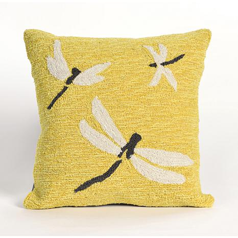 Liora Manne Frontporch Dragonfly Pillow - Yellow/18""